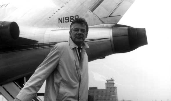 Bill Jorgensen departing Cleveland for England, in search of Robert Manry and Tinkerbelle, circa August 1965